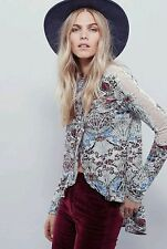 NEW FREE PEOPLE Snow Combo Multicolor Nouveau Top Size Small