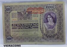 1918   AUSTRIA,  Austro-Hungarian Bank    10,000 Kronen  -  PICK#65   -    #9990