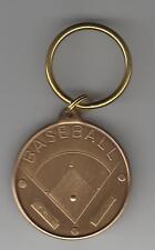 Baseball coach bronze engravable key chain thank you gift