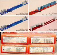 HO train IHC 4 INTERIORS for SS & CS Passenger Cars