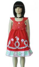 Niña Algodón Verano Vestido de fiesta Sexy Rosa Rojo Fucsia 9 meses a 4 años