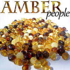 Authentic Baltic Amber Holed Loose Rounded Beads 10g * Random Colours*