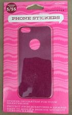 *Stickcover For IPhone 5/5s PInk Glitter Skin/Sticker Front & Back Covers*