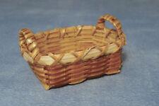 SCALA 1:12 Cesto di bambù singolo Casa delle Bambole Accessorio per la biancheria in miniatura