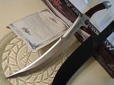 "Kit Rae Silver Mithrokil Combat Short Sword Scimitar Knife 3Cr13 KR0066 25 1/8"""