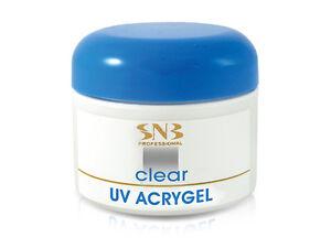 SNB Professional Nail Art UV Acrygel Builder Strong Acry Gel Clear 28g / 0.98oz