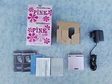 CONSOLE NINTENDO GBA GAME BOY ADVANCE SP ROSA * LIMITED PINK EDITION * COMPLETO