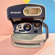 Cámara instantánea Polaroid P 600 plata (tarda 600 comprimidos) trabajando, película comprobada, Lomo