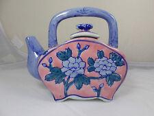 Ben Rickert Tea Pot Flat Side Porcelain Decoration Collectible EUC
