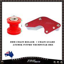 8mm Chain Roller & BLACK Chain Guard Atomik/Pitpro/Thumpstar DHZ Dirt/Pit Bikes