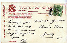 Genealogy Postcard - Family History - Jerrom - David Place - Jersey  A1509