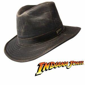 Indiana Jones Weathered Cotton Fedora Hat