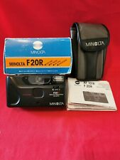 Minolta F20R Camera Auto Red Eye Reduction DX Auto/ CASED TESTED + *BOXED*