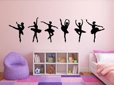 BALLERINA DANCERS Bedroom Vinyl Decal Sticker Mural Home Decor Border Girls