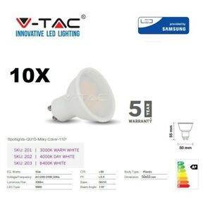 LED GU10 5W Spotlight Plastic 400Lm Natural White Samsung Chip 5Yr Warranty VTAC