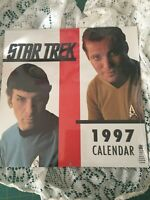NOS New Sealed 1997 Star Trek Calendar Original w/ Bonus Centerfold, Kirk, Spock