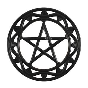 Wooden Pentagram Gothic Wall Art Horror Witch Magic Ornament Spell Decor 30cm