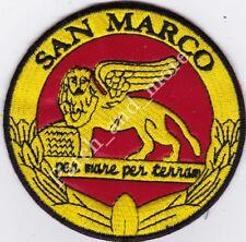 [Patch] SAN MARCO PER MARE PER TERRA leone diam. cm 9 rosso toppa ricamo -1110