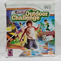 Active Life Outdoor Challenge Game & Mat Controller Nintendo Wii - Complete