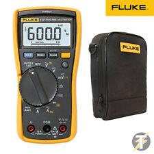 FLUKE 117 True RMS Digital Multimeter w/ C115 Carry Case & Test Leads