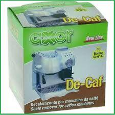 AXOR DECALCIFICANTE PER MACCHINA DA CAFFE' DE CAF DE-CAF 10 BUSTINE DA 30 GRAMMI