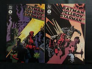 BATMAN HELLBOY STARMAN 1&2 COMPLETE DC DARK HORSE COMICS MINI SERIES SET LOT