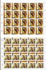 """2005 EUROPA CEPT, LUXEMBURGO 2 Hojas de sellos 20 valores """"Gastronomía"""" MNH"""