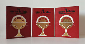 LA SACRA BIBBIA introduzioni note G. Ricciotti 3 Voll caratteri grandi 1940/1972