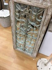 NEW French Provincial Timber Frame Rustic Vintage Metal Wall Mirror