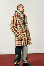 SUPREME JEAN PAUL GAULTIER PLAID FAUX FUR COAT OFF-WHITE LARGE + IN HAND LARGE