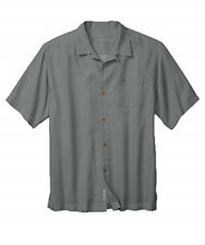 Tommy Bahama Shadow Blue Royal Bermuda Front Button Shirt