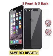 Anti-Glare Matte 5 Front & 5 Back Screen Protectors Film for Apple iPhone 8 4.7""