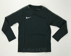 Nike Youth Unisex Medium Academy 18 Soccer Crew Neck Pullover Black 893809
