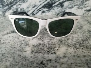 Ray Ban WAYFARER  originals Sunglasses 54mm RB 2140 white frame black LENSES