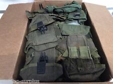 Huge Lot of 50 Military Surplus m16 Ammo pouches Cases Triple Mag OD Poor CON
