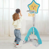 4 In 1Basketball Hoop Stand W/Basketball/Ring Toss/Soccer/Golf Adjustable US