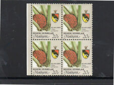 MALAYSIA-NEGRI #104  1986  20c AGRICULTURE & STATE ARMS  MINT  VF NH  O.G  BP4