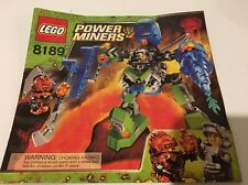 Lego 8189 Power Miners Magna Mech Instruction Book Only