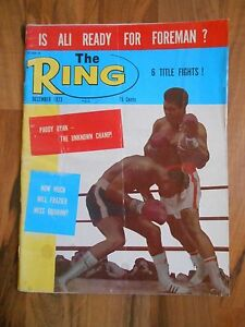 Old Vintage The Ring Magazine 1973 Is Ali ready for Foreman? Paddy Ryan Frazier