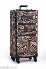 4 in 1 LEOPARD Makeup Cosmetic Case Trolley, Beauty Salon, Hairdresser