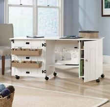 Sewing Table Sauder For Quilters And Cutting Drop Leaf Desk Folding Cabinet Wood