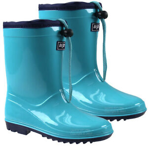 BOYS WELLINGTON GIRLS KIDS BOOTS WATERPROOF YOUTH MUCKER SNOW RAIN WELLIES SIZE