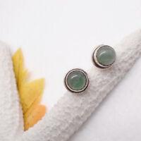 Prehnit grün hellgrün Design Ohrringe Stecker Ohrstecker 925 Sterling Silber neu