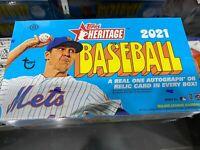 2021 Topps Heritage Baseball Hobby Box Factory Sealed
