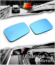 Polarized Side Door View Blue Mirror Len Set for 2011-2012 Honda CR-Z Pre-LCI