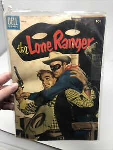 THE LONE RANGER #81 FN Golden Age Comic ~ DELL 1955 Painted Cover