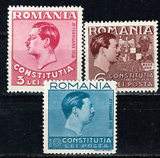 Romania King Carol 2 Constitution Coat of Arms set 1938 MLH