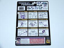 TRANSFORMERS G1 TECH SPECS FILE CARD CARDBACK SEACONS TENTAKILL 1987 HASBRO USA