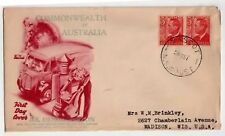 New South Wales FDC  3d. Denomination  Mascot N.S.W PM Commonwealth
