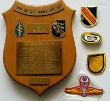 Original Us Army Vietnam 5th Special Forces Group (Airborne) Presentation Plaque